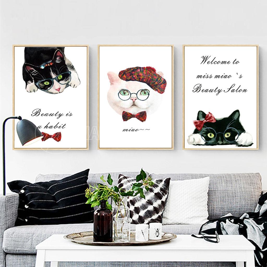 Ba con mèo