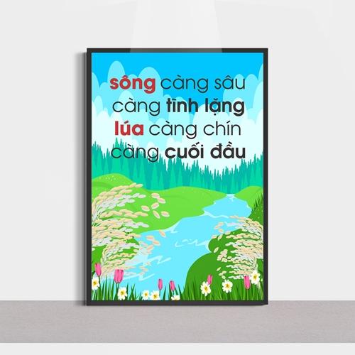 Slogan hay, sông càng sâu càng tĩnh lặng