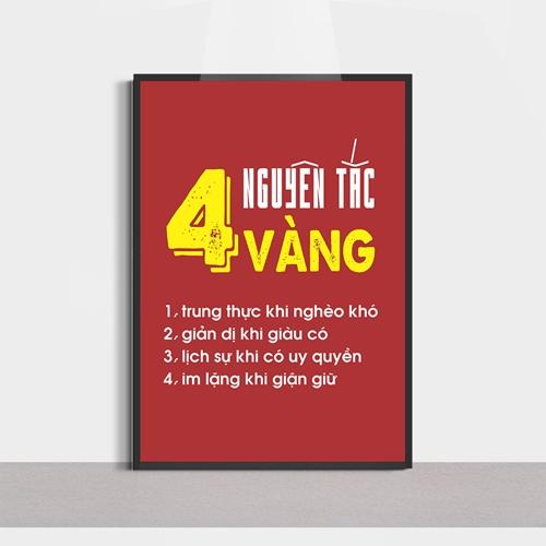 Tranh slogan, 4 nguyên tắc vàng