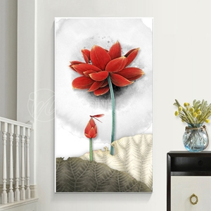 Bông hoa sen đỏ