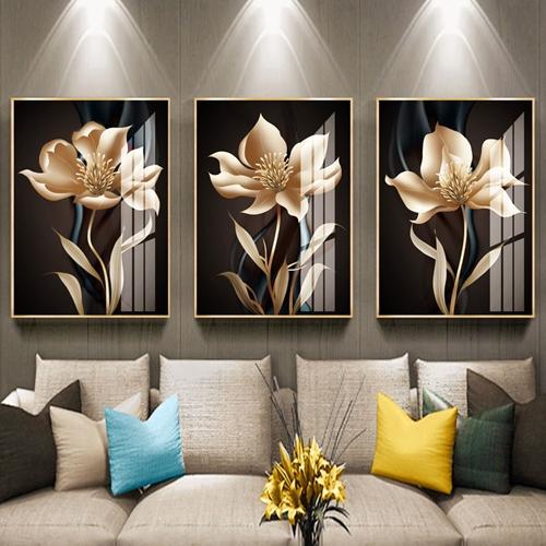 Tranh bộ hoa 3D