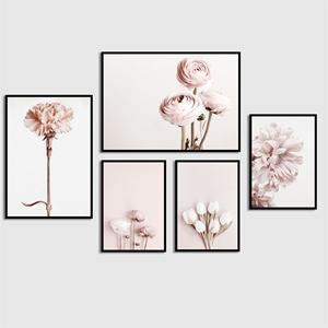 Tranh bộ 5 bức, bông hoa hồng