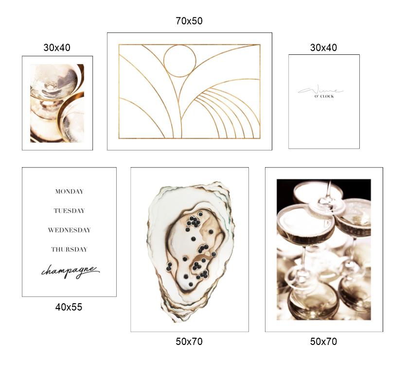 Tranh bộ, 6 bức tranh ẩm thực đồ ăn và hình line art