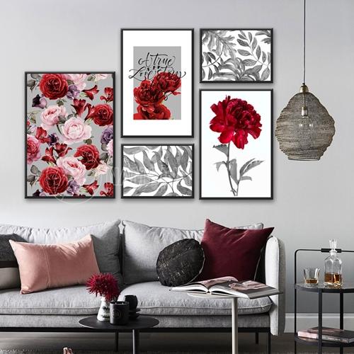 Bộ tranh hoa hồng đỏ