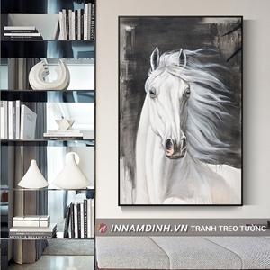 Tranh con ngựa trắng