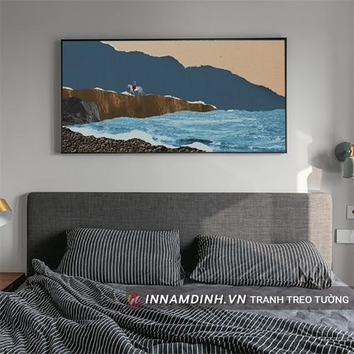 Tranh phong cảnh 3D bờ biển