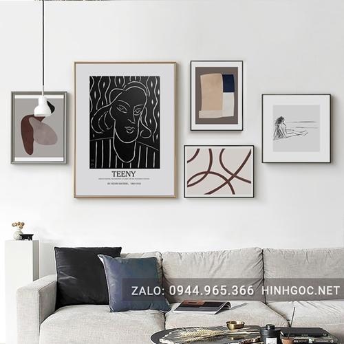 Bộ tranh trừu tượng line art