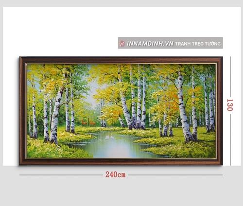 Tranh phong cảnh thiên nhiên, hàng cây vàng mùa thu