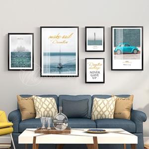Phong cảnh biển và xe