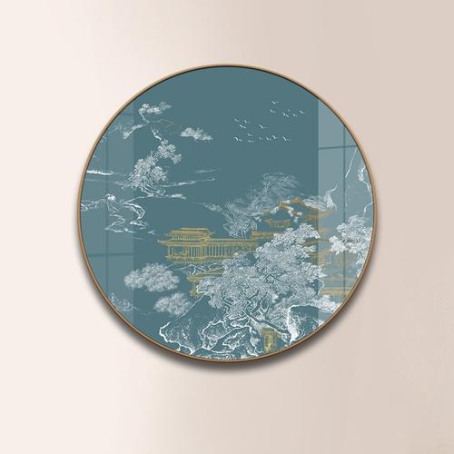 Tranh tròn trừu tượng họa tiết