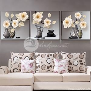 Tranh lọ hoa, bộ 3 bức đẹp