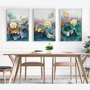 Tranh bộ 3 bức hoa sen