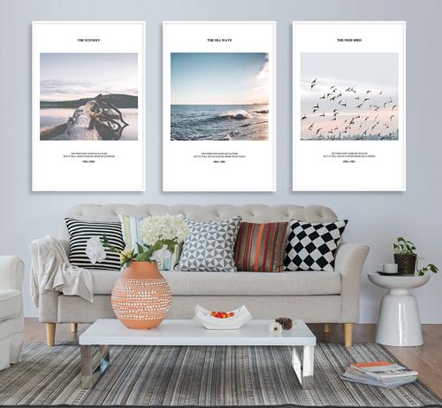 Tranh bộ 3 bức phong cảnh biển