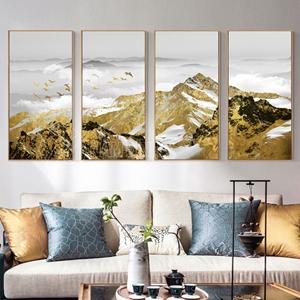 Phong cảnh ngọn núi vàng