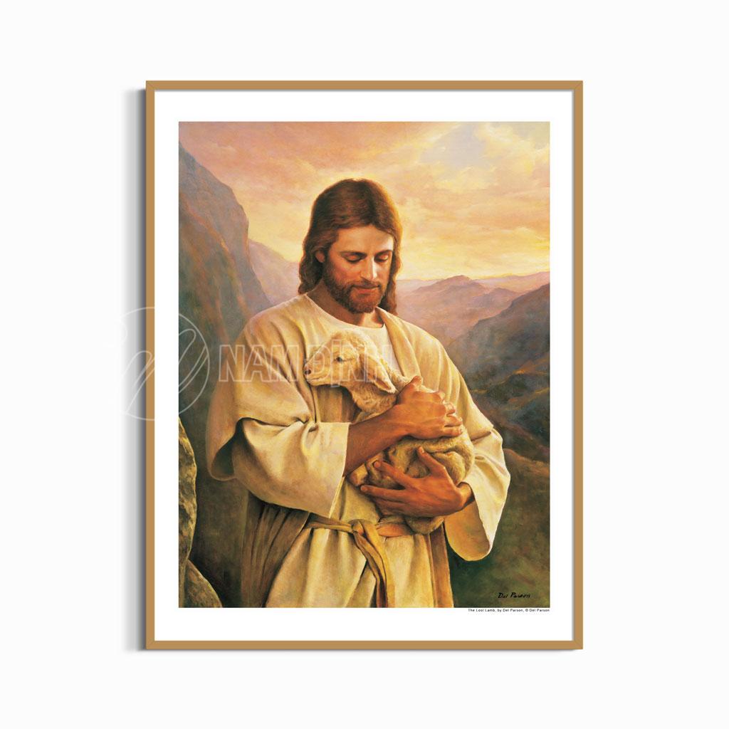 Tranh chúa bế cừu