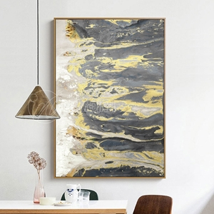 Trừu tượng đen vàng