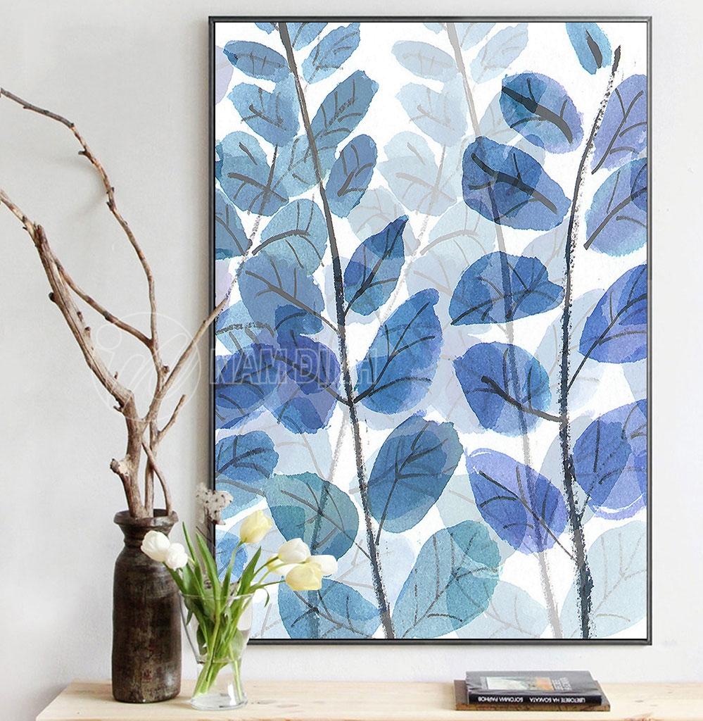 Bức tranh lá màu nước