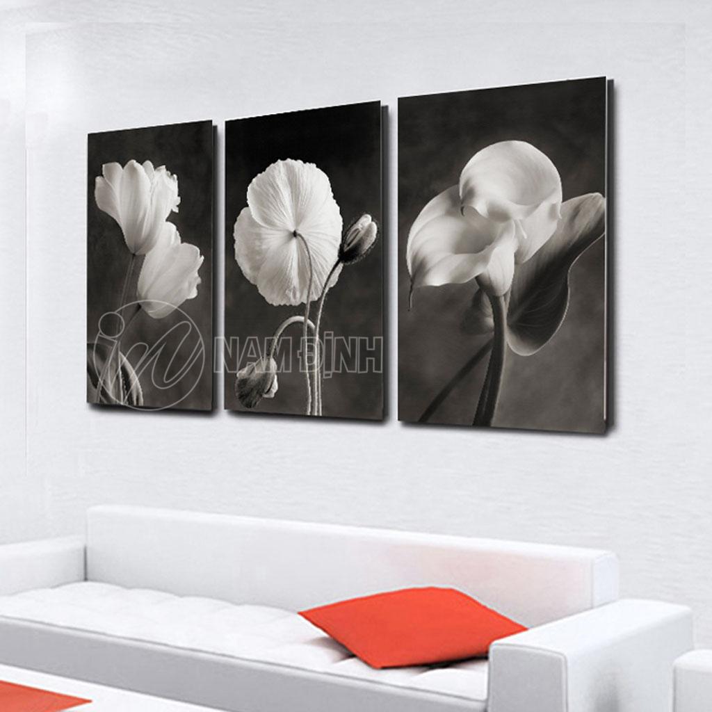 Bộ tranh hoa đen trắng