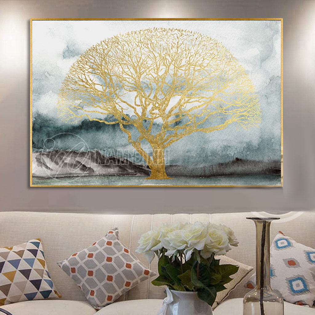 Phong cảnh trừu tượng cây vàng