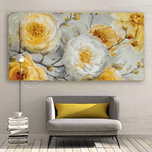 Bức tranh hoa vàng