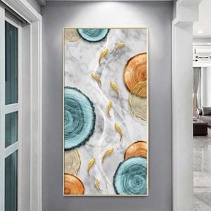 Tranh treo tường, đàn cá vàng và hình họa tiết
